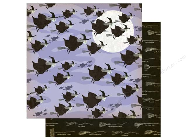 "Carta Bella Collection Haunted House Paper  12""x 12"" Witch Hour (25 pieces)"