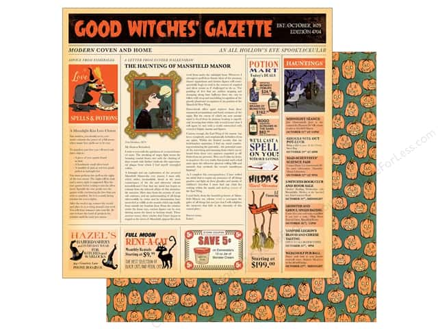 "Carta Bella Collection Haunted House Paper  12""x 12"" Good Witch (25 pieces)"