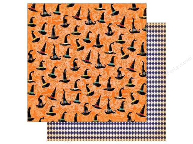 """Carta Bella Collection Haunted House Paper  12""""x 12"""" Haunted Hats (25 pieces)"""