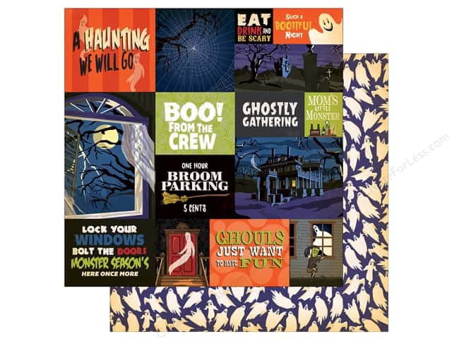 "Carta Bella Collection Haunted House Paper  12""x 12"" Multi Journaling Cards (25 pieces)"