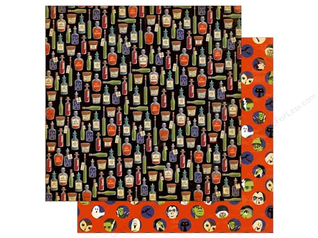 "Carta Bella Collection Haunted House Paper  12""x 12"" Apothecary Potions (25 pieces)"