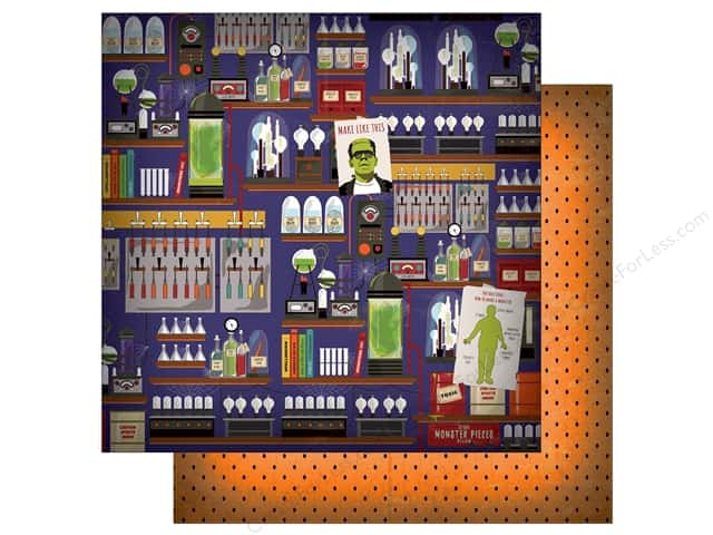 "Carta Bella Collection Haunted House Paper  12""x 12"" Mad Scientist's Laboratory (25 pieces)"