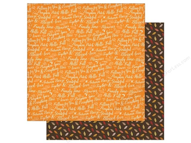 "Carta Bella Collection Hello Fall Paper 12""x 12"" Family Time (25 pieces)"