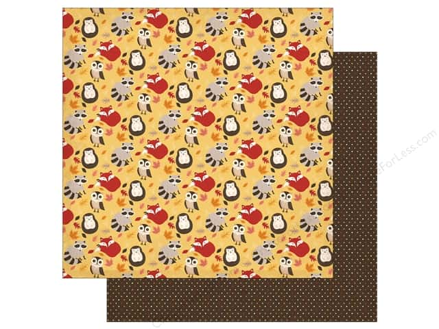 "Carta Bella Collection Hello Fall Paper 12""x 12"" Falling For You (25 pieces)"