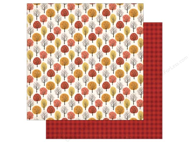 "Carta Bella Collection Hello Fall Paper 12""x 12"" Fall Forest (25 pieces)"