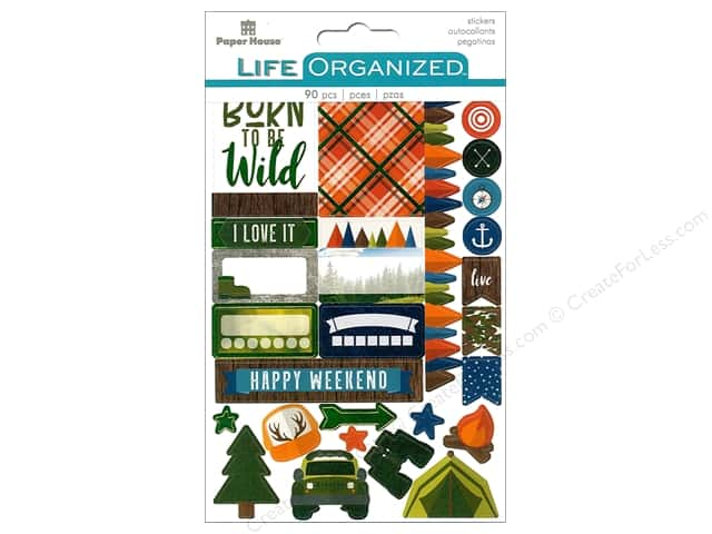 Paper House Collection Life Organized Sticker Planner Outdoors Fun