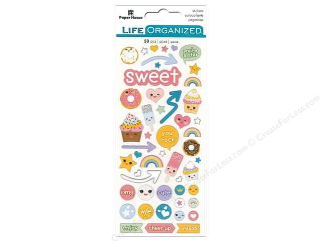 Paper House Life Organized Collection Sticker Puffy Kawaii Fun