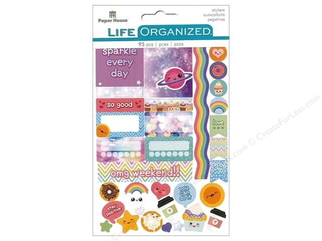Paper House Life Organized Collection Planner Sticker Kawaii Fun