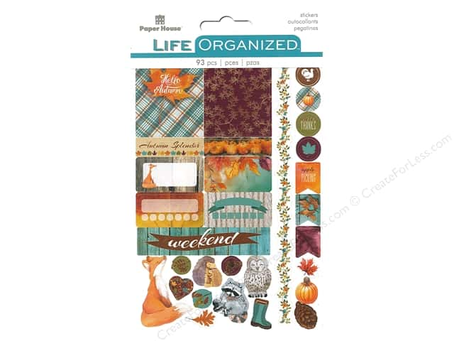 Paper House Collection Life Organized Sticker Planner Autumn Wood Fun