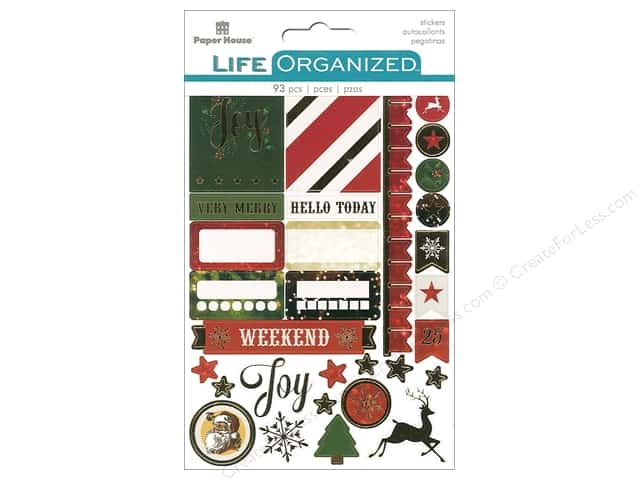 Paper House Collection Life Organized Sticker Planner Christmas Fun