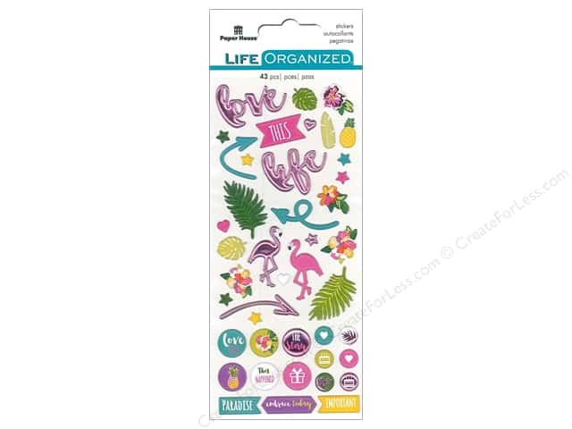 Paper House Collection Life Organized Sticker Puffy Embrace Today Fun