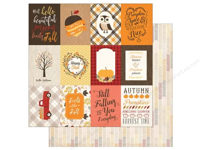 "Carta Bella Collection Hello Fall Paper 12""x 12"" Journal Card 3""x 4"" (25 pieces)"