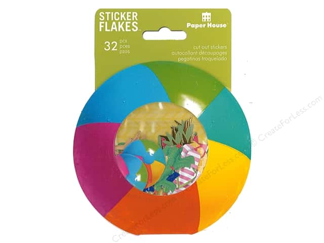 Paper House Collection Life Organized Sticker Flake Summer Fun