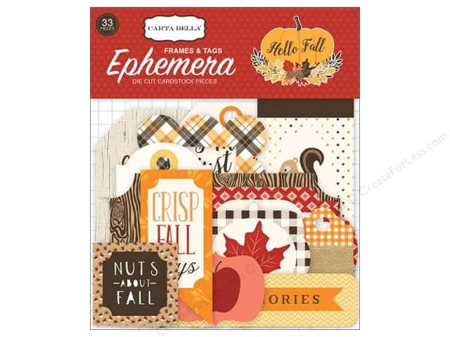 Carta Bella Collection Hello Fall Ephemera Frames & Tags