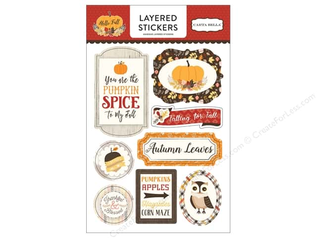 Carta Bella Collection Hello Fall Stickers Layered