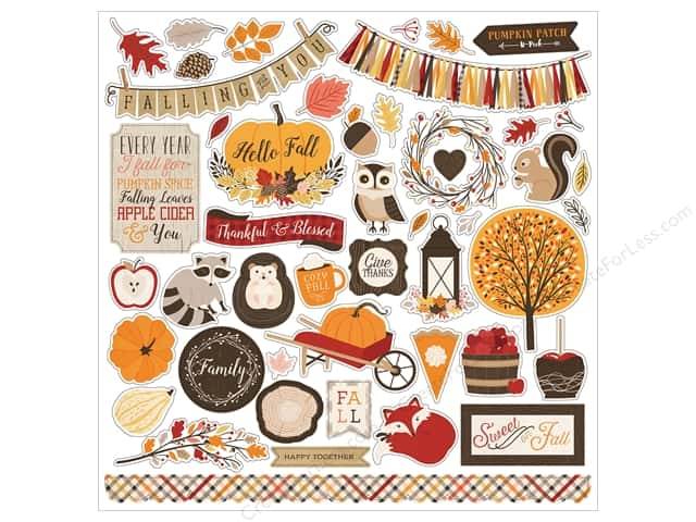 "Carta Bella Collection Hello Fall Sticker 12""x 12"" (15 pieces)"