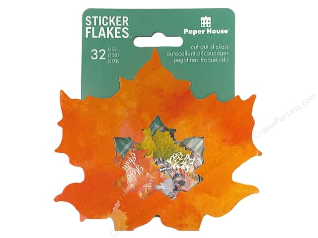 Paper House Collection Life Organized Sticker Flake Autumn Woods
