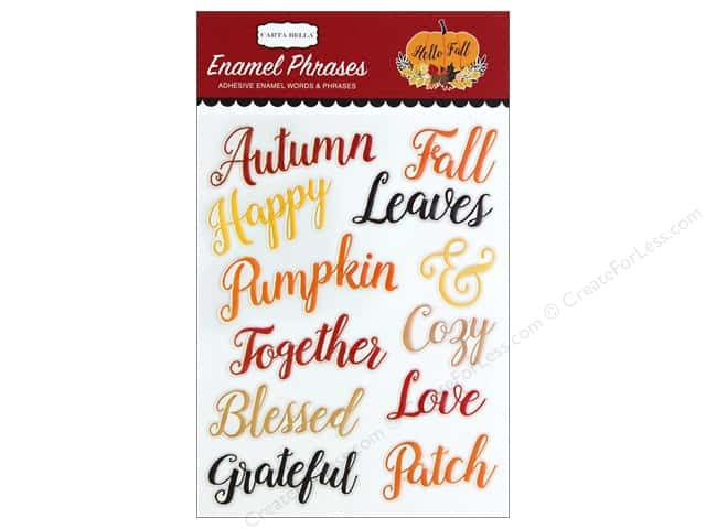 Carta Bella Collection Hello Fall Enamel Words & Phrases