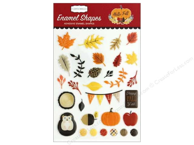 Carta Bella Collection Hello Fall Enamel Shapes