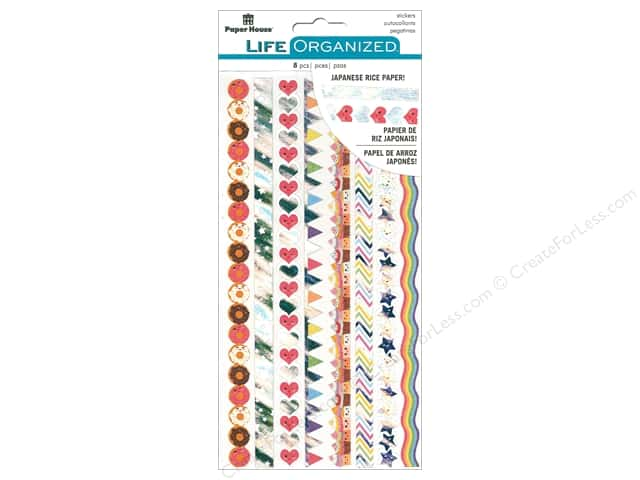 Paper House Collection Life Organized Sticker Rice Paper Kawaii