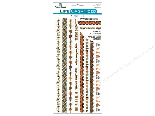 Paper House Life Organized Collection Sticker Rice Paper Autumn Wood