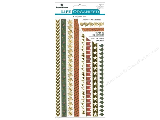 Paper House Collection Life Organized Sticker Rice Paper Christmas