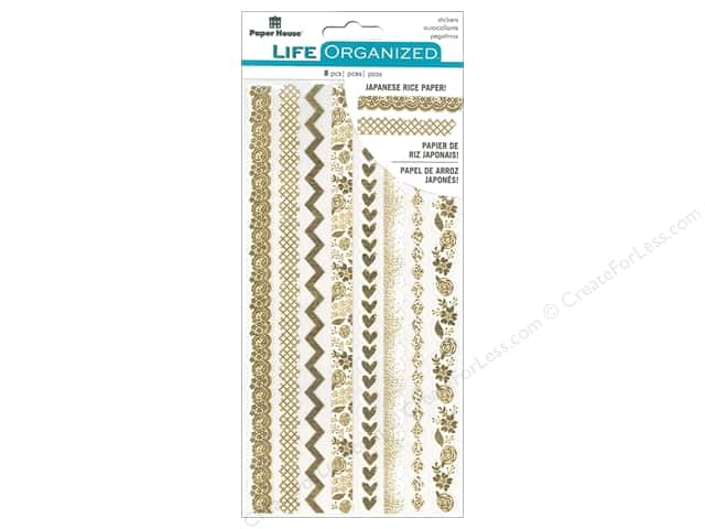 Paper House Collection Life Organized Sticker Rice Paper Cherished