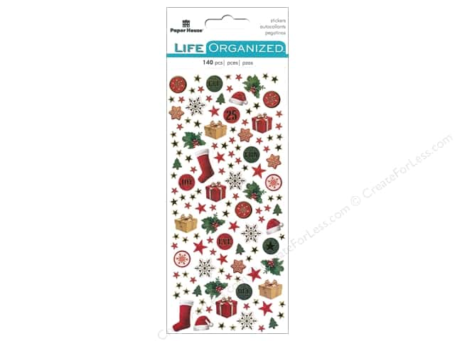 Paper House Collection Life Organized Sticker Micro Christmas