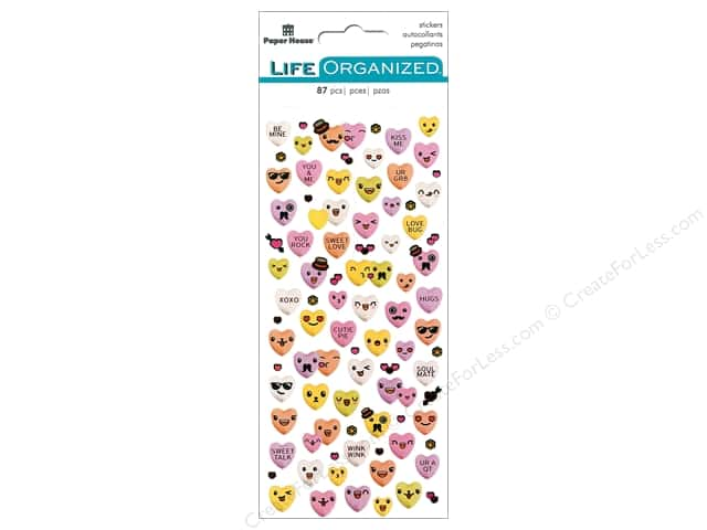 Paper House Collection Life Organized Sticker Micro Candy Hearts
