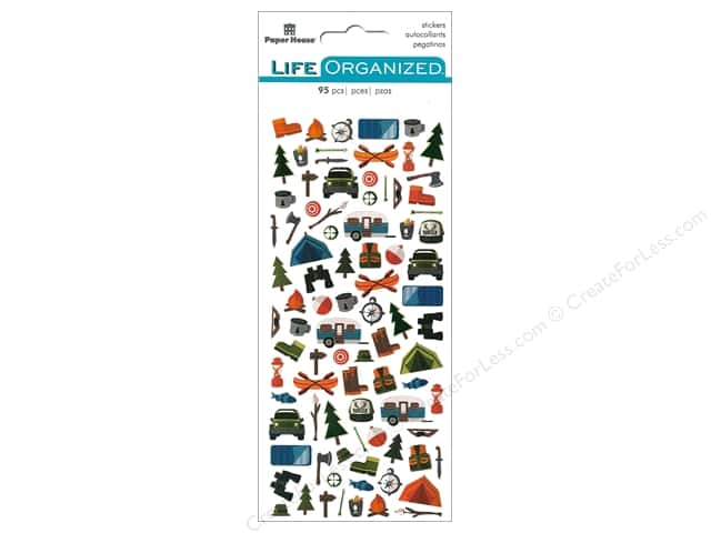 Paper House Life Organized Collection Sticker Micro Outdoors