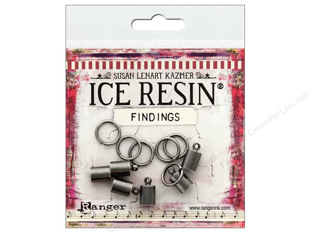 Ranger ICE Resin Findings Cap 6mm/Ring 10mm Silver