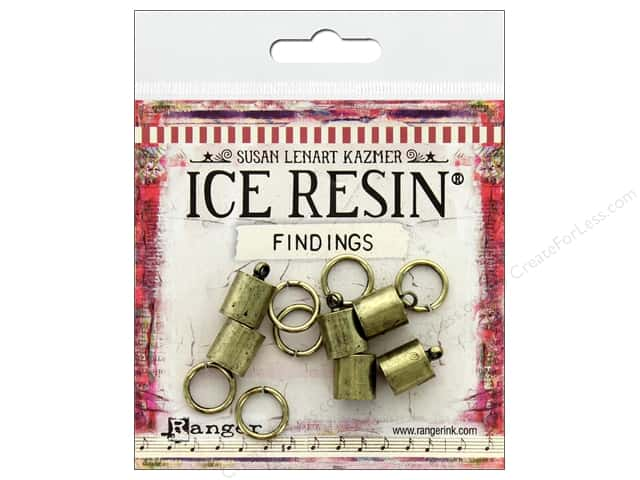 Ranger ICE Resin Findings Cap 8mm/Ring 10mm Bronze