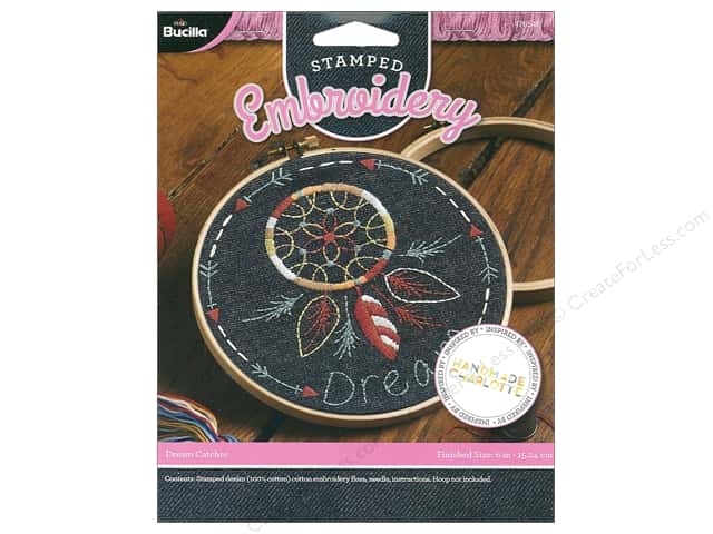Bucilla Embroidery Kit Handmade Charlotte Stamped Dream Catcher