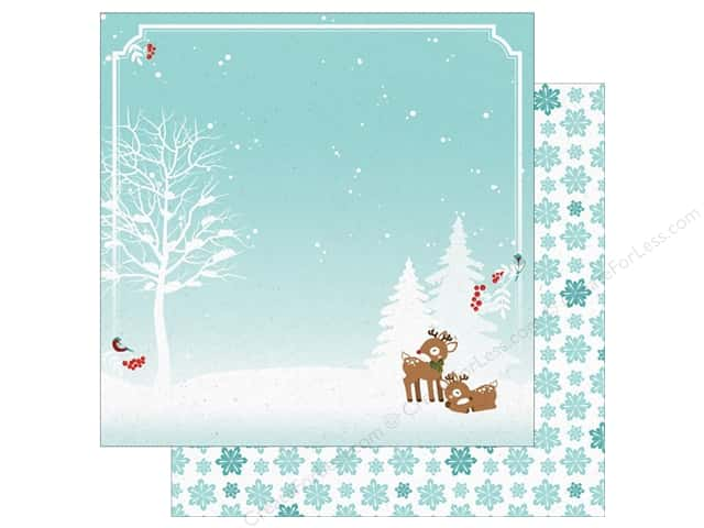 "Paper House Collection Christmas Cheer Paper 12""x 12"" Reindeer (15 pieces)"