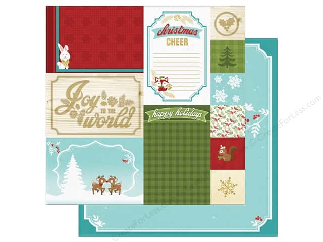 "Paper House Collection Christmas Cheer Paper 12""x 12"" Christmas Tags (15 pieces)"