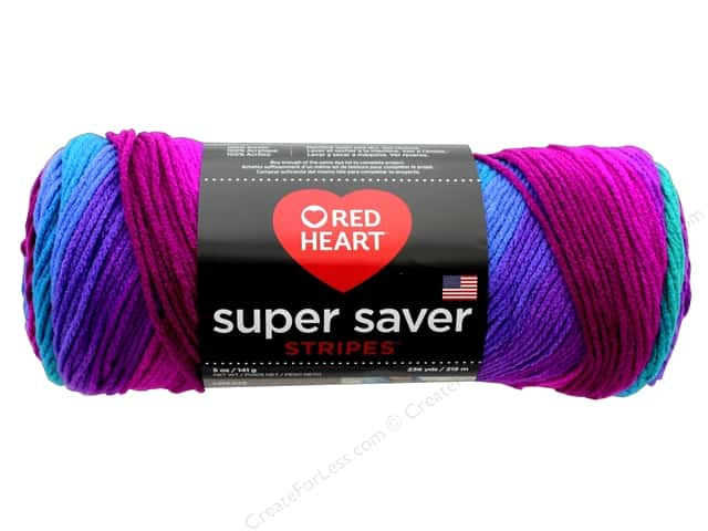 Red Heart Super Saver Yarn 236 yd. #4960 Polo Stripe