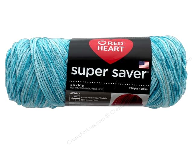 Red Heart Super Saver Yarn 236 yd. #3974 Topaz