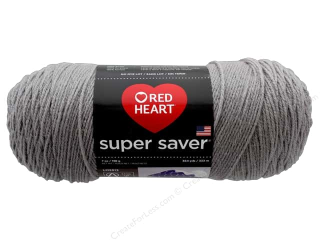 Red Heart Super Saver Yarn 364 yd. #0340 Dusty Grey