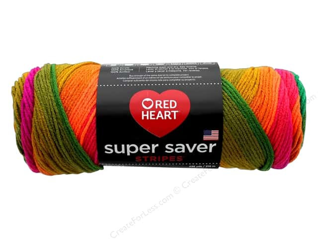 Red Heart Super Saver Yarn 236 yd. #4961 Preppy Stripe