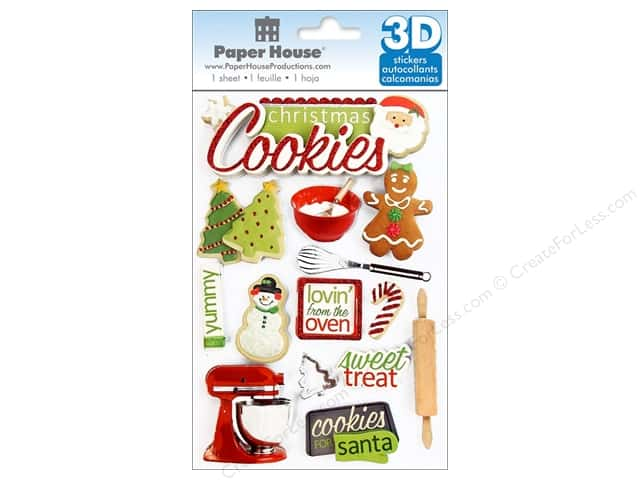 Paper House Sticker 3D Christmas Cookies