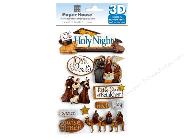 Paper House Sticker 3D Holy Night