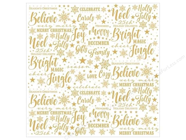 "Paper House Collection Christmas Joy Paper 12""x 12"" Acetate (15 pieces)"