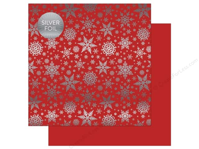 "Carta Bella Collection Winter Wonderland Paper 12""x 12"" Foil Red (25 pieces)"