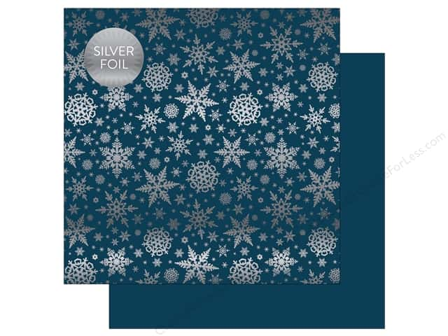"Carta Bella Collection Winter Wonderland Paper 12""x 12"" Foil Navy (25 pieces)"