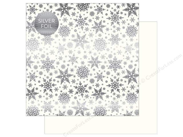 "Carta Bella Collection Winter Wonderland Paper 12""x 12"" Foil White (25 pieces)"