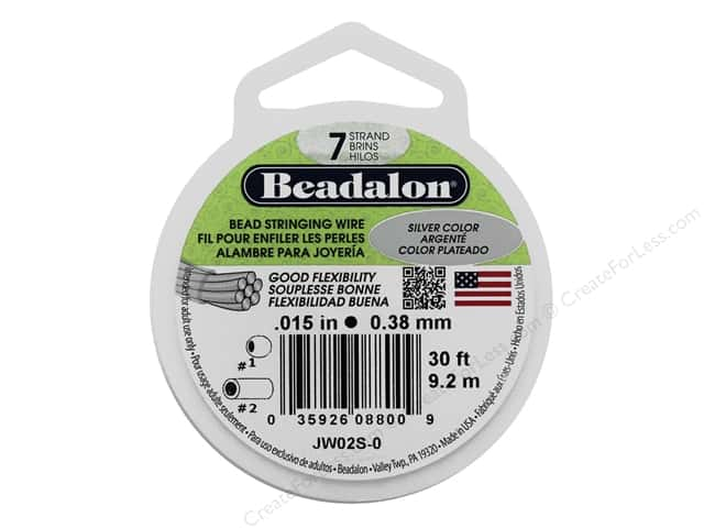 Beadalon Bead Wire 7 Strand .015 in. Metallic Silver 30 ft.