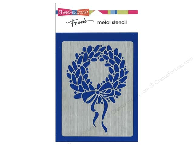 Stampendous Stencil Metal Wreath