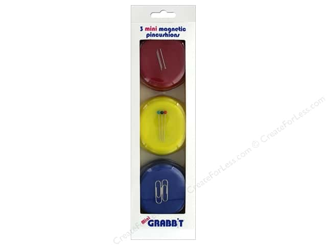 Blue Feather Grabbit Magnetic Pincushon Mini Red/Yellow/Blue