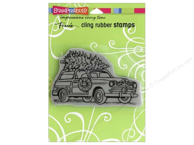 Stampendous Cling Rubber Stamp Woody Christmas
