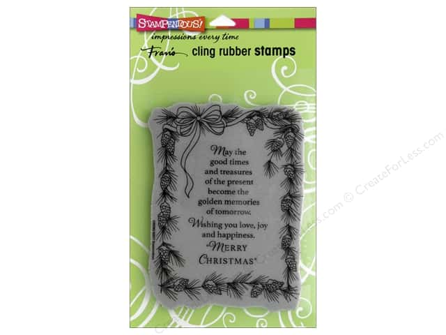Stampendous Cling Rubber Stamp Pinecone Greeting